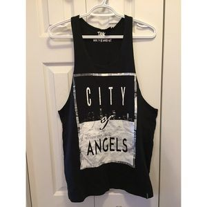City Of Angels Graphic Muscle Style Tee